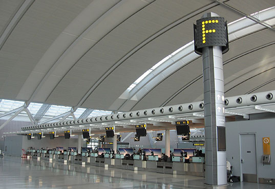 Air Canada check-in desks at Toronto Pearson International Airport